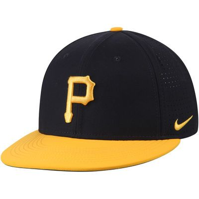 a6fd078118c7b Pittsburgh Pirates Nike Aero True Adjustable Hat - Black Gold