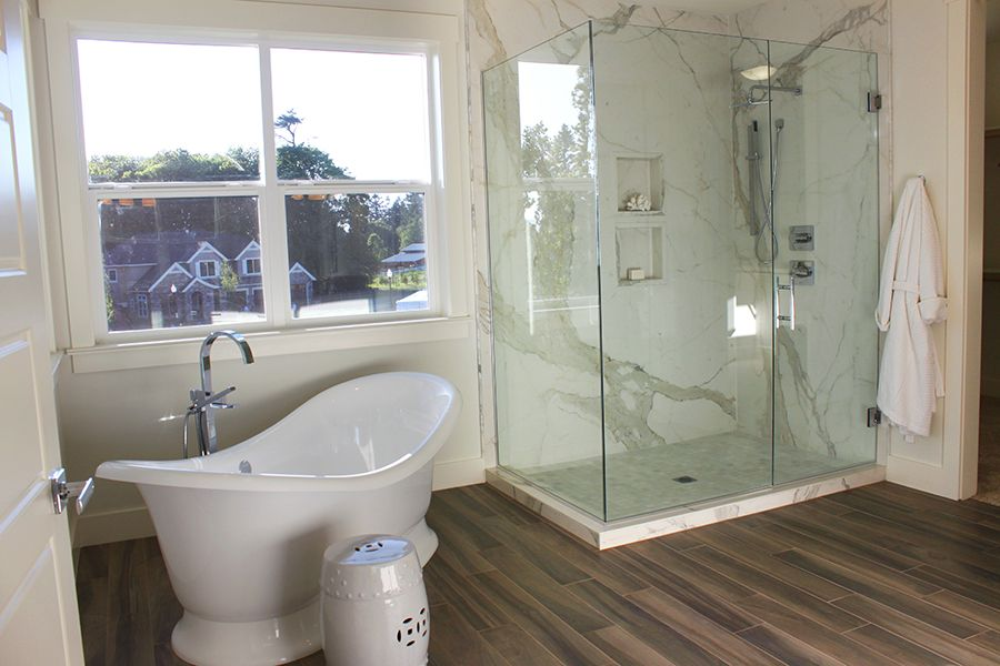 thin is in bathroom style shower