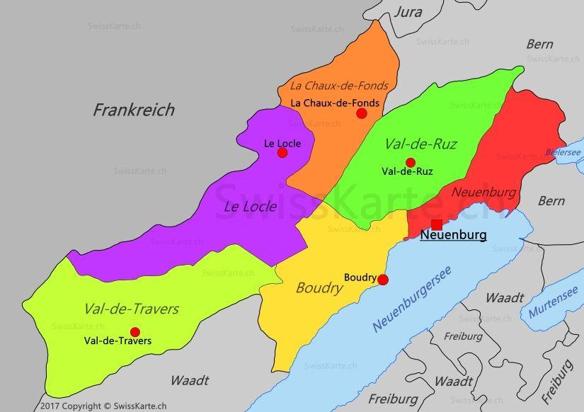 Karte Kanton Neuenburg Mit Bildern Schweiz Karten Alpen