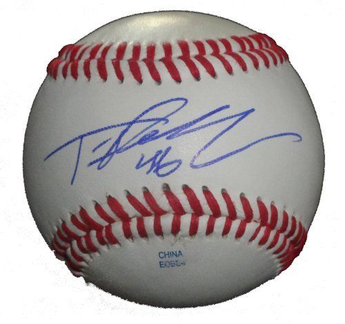 Tim Redding Autographed ROLB Baseball, Toronto Blue Jays, New York Yankees, New York Mets, Proof Photo by Southwestconnection-Memorabilia. $34.99. This is a Tim Redding autographed Rawlings official league baseball. Tim signed the ball in blue ballpoint pen. Check out the photo of Tim signing for us. Proof photo is included for free with purchase. Please click on images to enlarge.