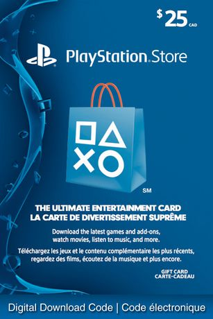 Sony Playstation Network 25 Playstation Store Gift Card
