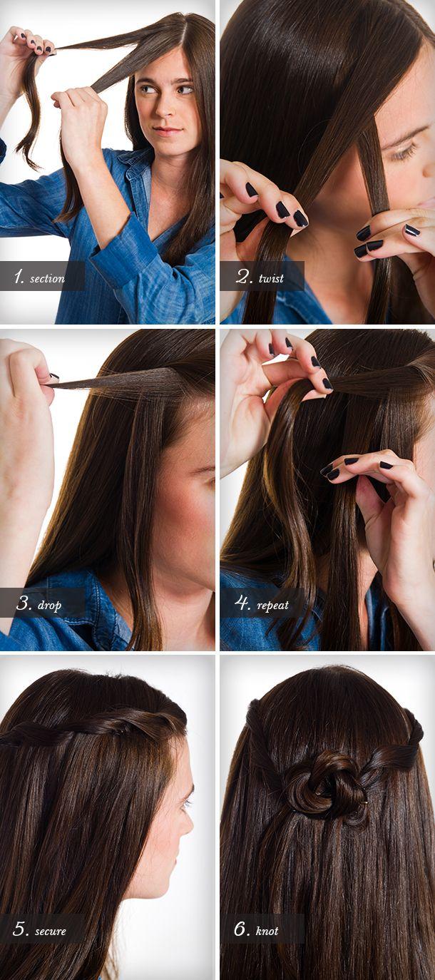 Waterfall Twist Hair Tutorial