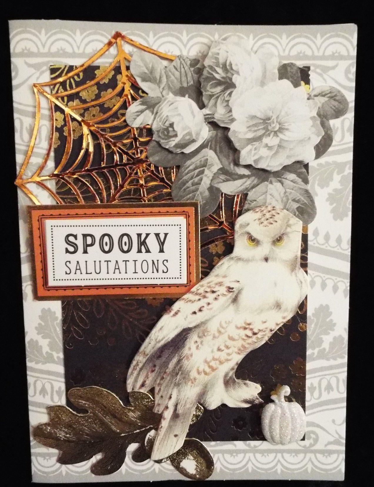 owl spooky salutations halloween card | halloween | pinterest