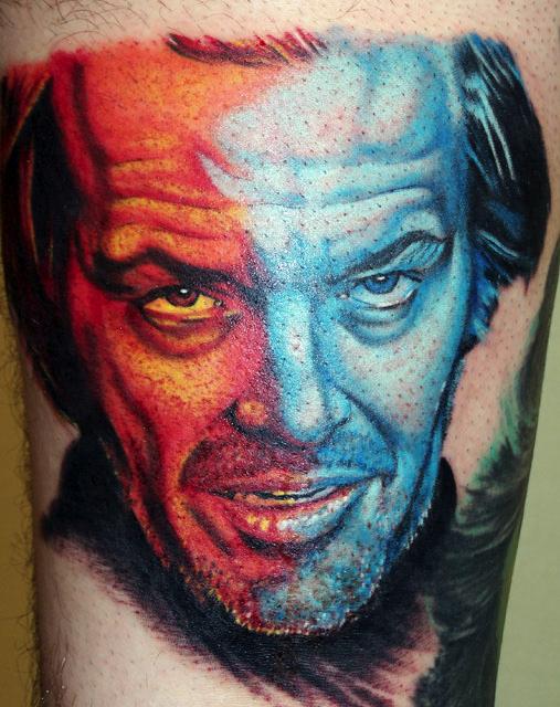 The Shining Tattoo : shining, tattoo, Shining, Tattoo,, Nicholson!, Movie, Tattoos,, Insane, Horror, Tattoo