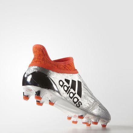 5e755a13155 adidas X 16+ PURECHAOS FG (Silver Metallic Black Solar Red)