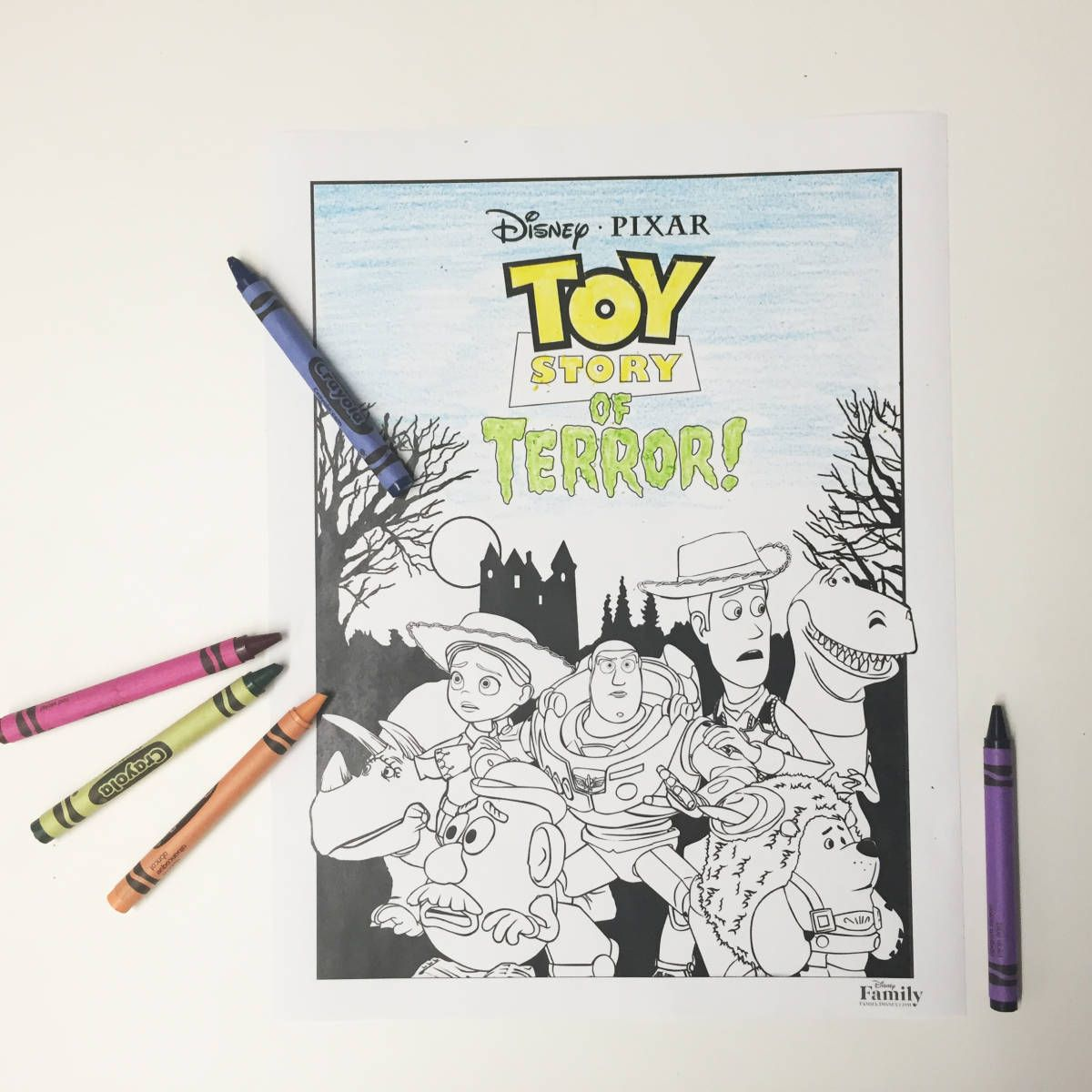 toy story of terror coloring page toy and disney family