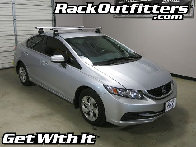 Honda Civic 4 Door Thule Rapid Traverse Silver Aeroblade Base Roof Rack 06 12 Roof Rack Honda Civic Thule