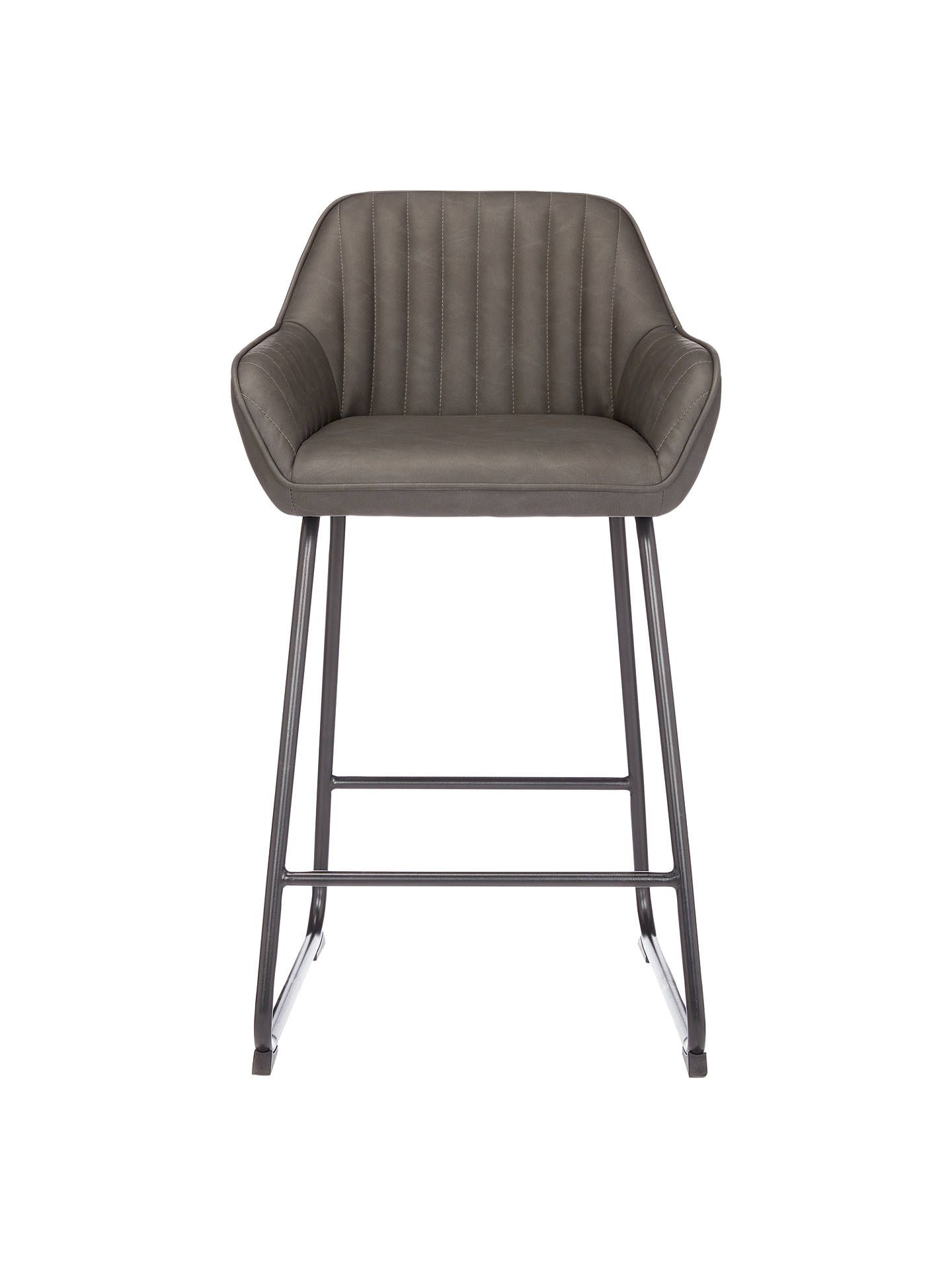 John Lewis & Partners Brooks Bar Chair, Antique Brown in 8