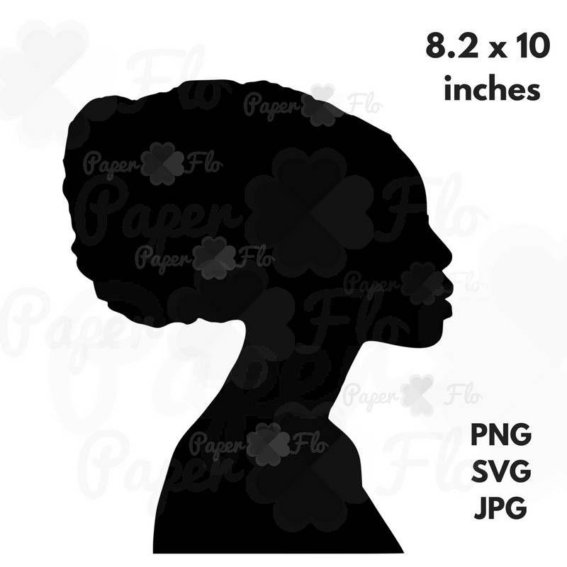 head wrap svg black woman headwrap silhouette african woman clip art