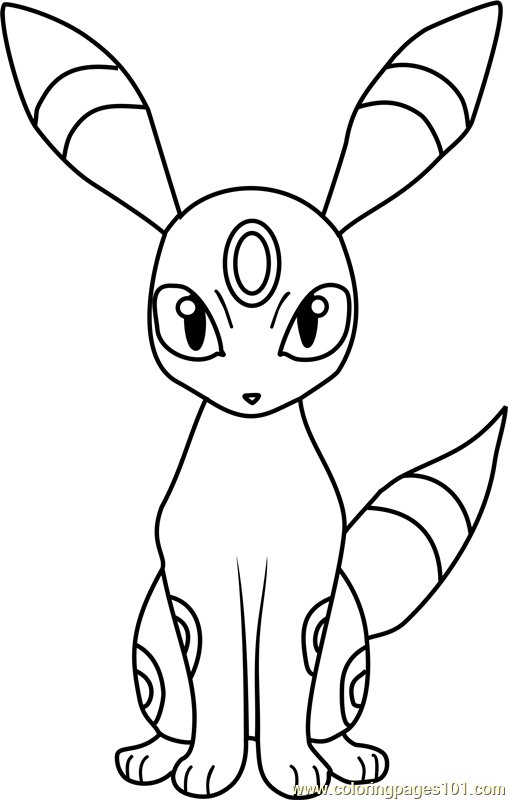 Umbreon Pokemon Coloring Page Pokemon Coloring Pages Pokemon Coloring Pokemon Painting