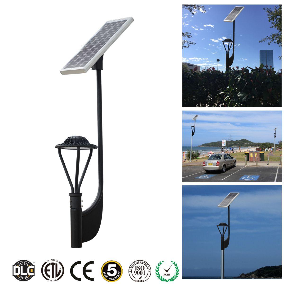 30w 3900 Lumens Solar Post Top Led Area Light Solar Lamp Post