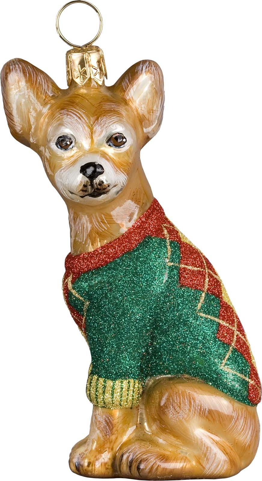 Joy to the world chihuahua christmas ornament dog new products