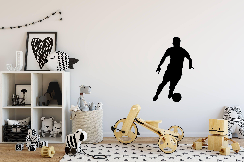 SOCCER Black Kids Nursery Removable Wall Decal Vinyl Stickers Art Home Decor