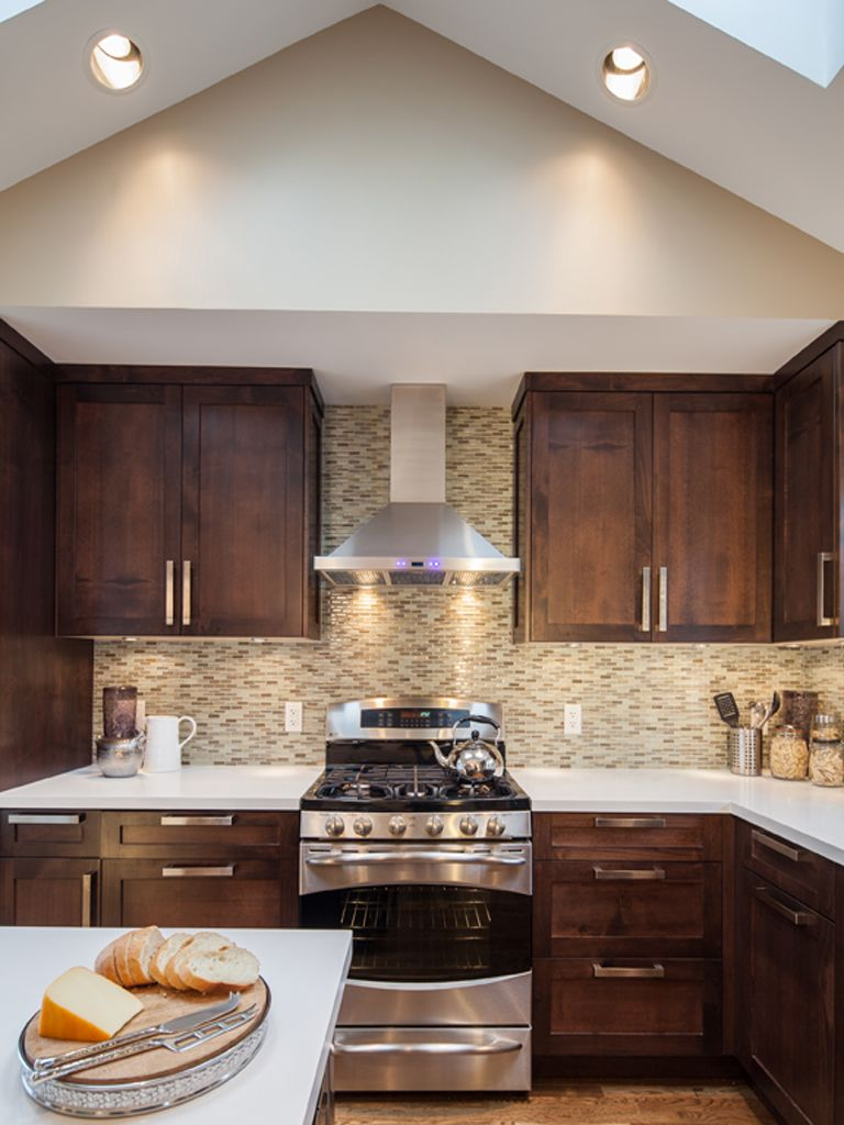 vaulted ceiling with skylights kitchen renovation kitchen on kitchen cabinets vaulted ceiling id=53766