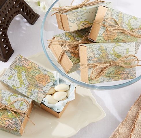 Travel Theme Retirement Party Favor Boxes | Retirement ...