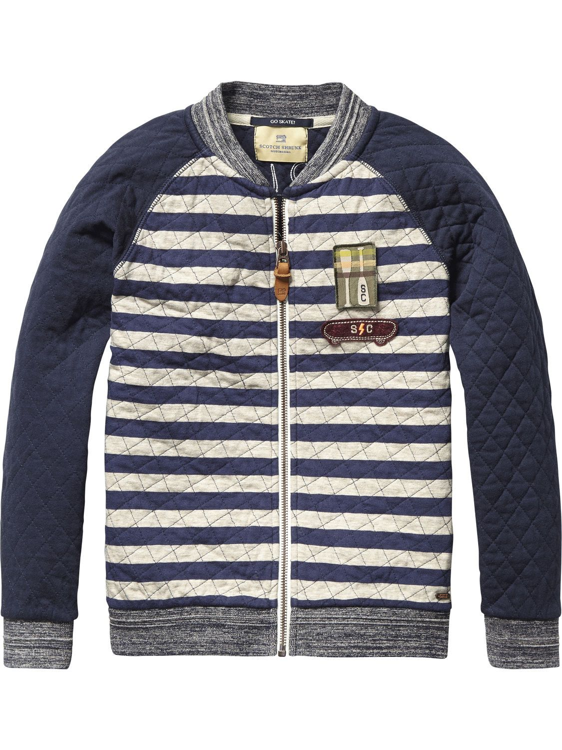 Quilted Varsity Jacket Inbetween Jackets Boys Clothing At Scotch