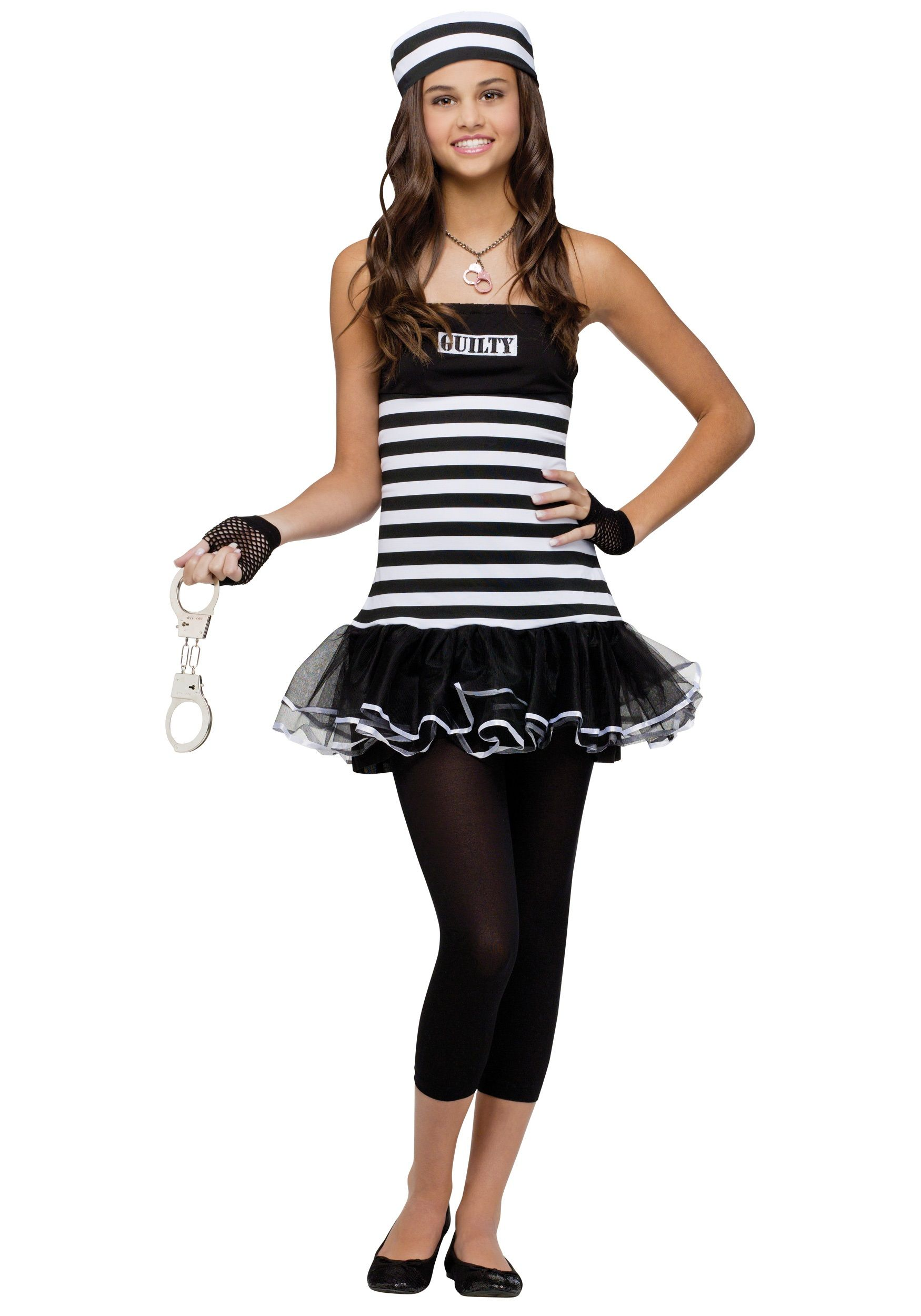 this teenage guilty prisoner costume is a must have to pair with police costumes check out all of our kids robber costumes and girls convict costume ideas
