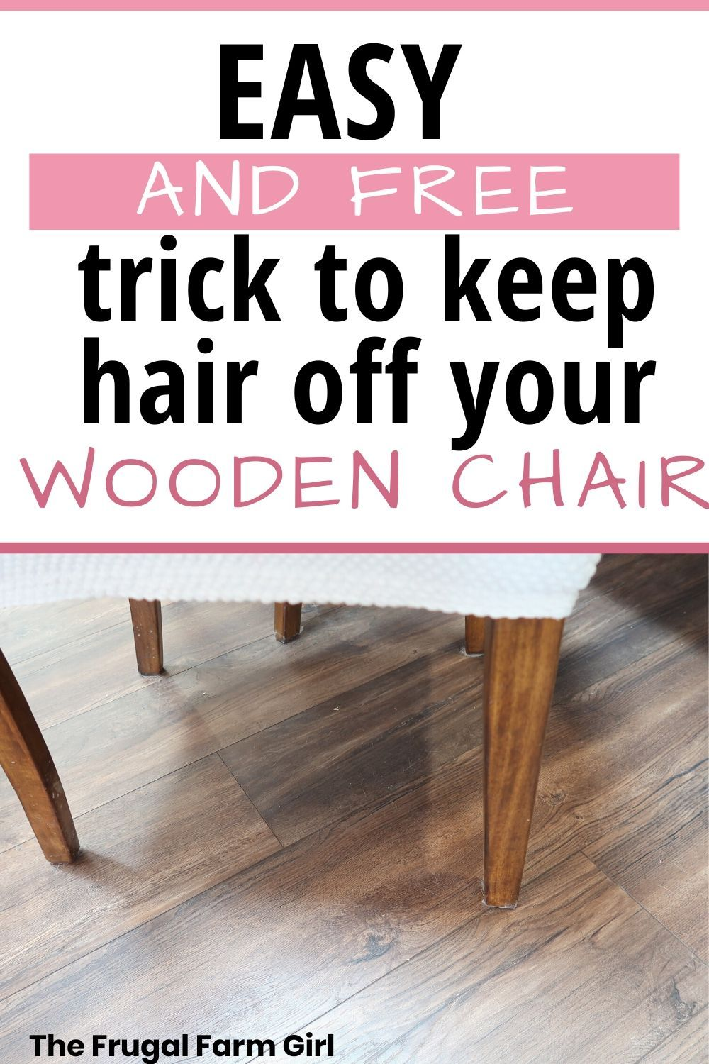 Frugal way to keep chairs from scratching floors frugal