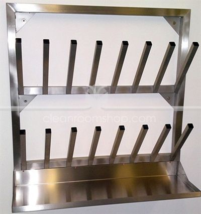 Cleanroomshop Com Wall Mounted Boot Drying Rack With Drip Tray Boot Drying Rack Drip Tray Drying Rack