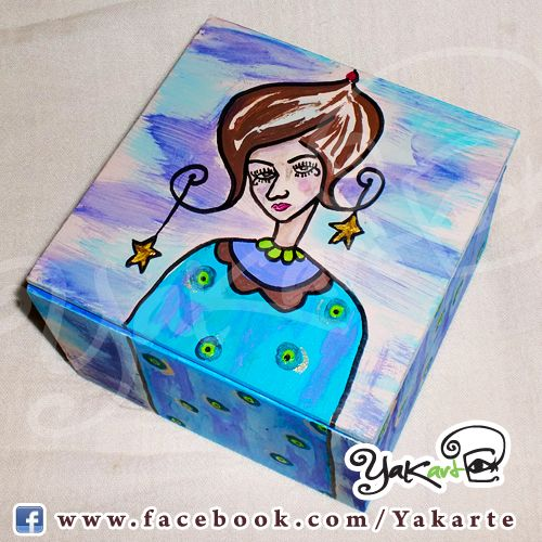 "Caja Mágica Minuta ""Con Estrellitas en mi Cabeza"" www.facebook.com/Yakarte"