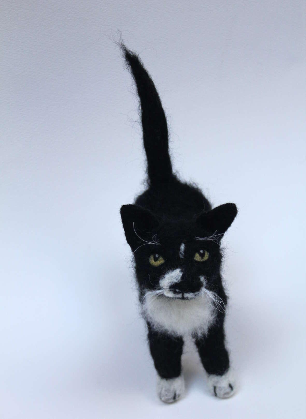 Needle felted cat portrait Felt cat, Cat portraits