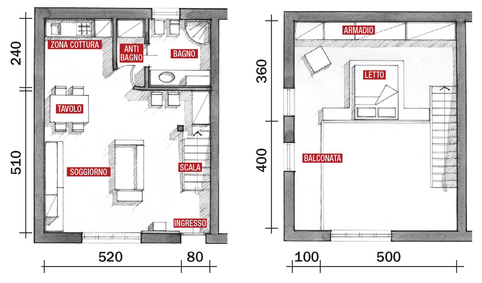 Una Casa A Doppia Altezza Con Soppalco Di 70 Mq Cose Di Casa Planimetrie Dell Appartamento Planimetria Casa Case