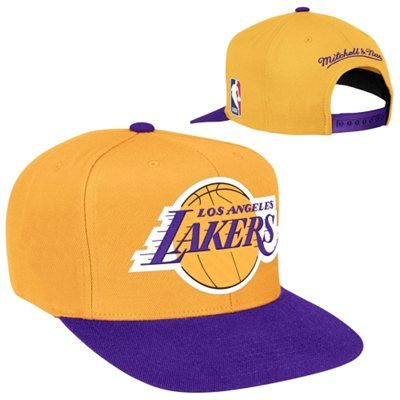f532e58b Mitchell & Ness Los Angeles Lakers XL Logo 2-Toned Snapback Hat - Gold/ Purple