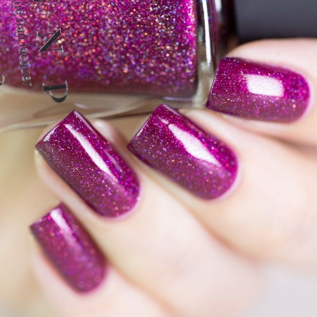 Showtime - Deep Raspberry Holographic Nail Polish