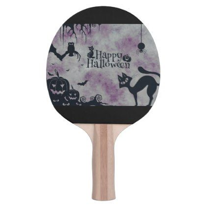 #Happy Halloween Ping-Pong Paddle - #Halloween #happyhalloween #festival #party #holiday