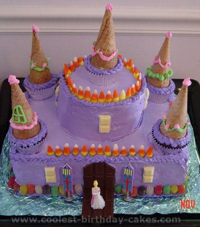 Awesome Homemade Wilton Princess Castle Cake Princess castle Cake