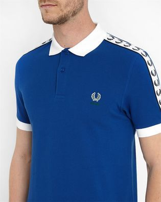 Blaues Poloshirt Italien FRED PERRY