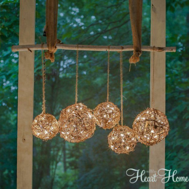DIY Porch and Patio Ideas - Easy DIY Porch Light - Decor Projects and Furniture Tutorials You Can Build for the Outdoors -Swings, Bench, Cushions, Chairs, Daybeds and Pallet Signs diyjoy.com/...