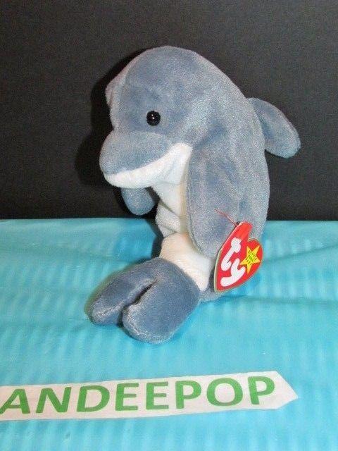 ea37e3965a7 TY Retired Beanie Baby Echo Dolphin 1996 Ty With Tags  Ty  echo  dolphin   beaniebaby  retired  rare  dandeepop Find me at dandeepop.com