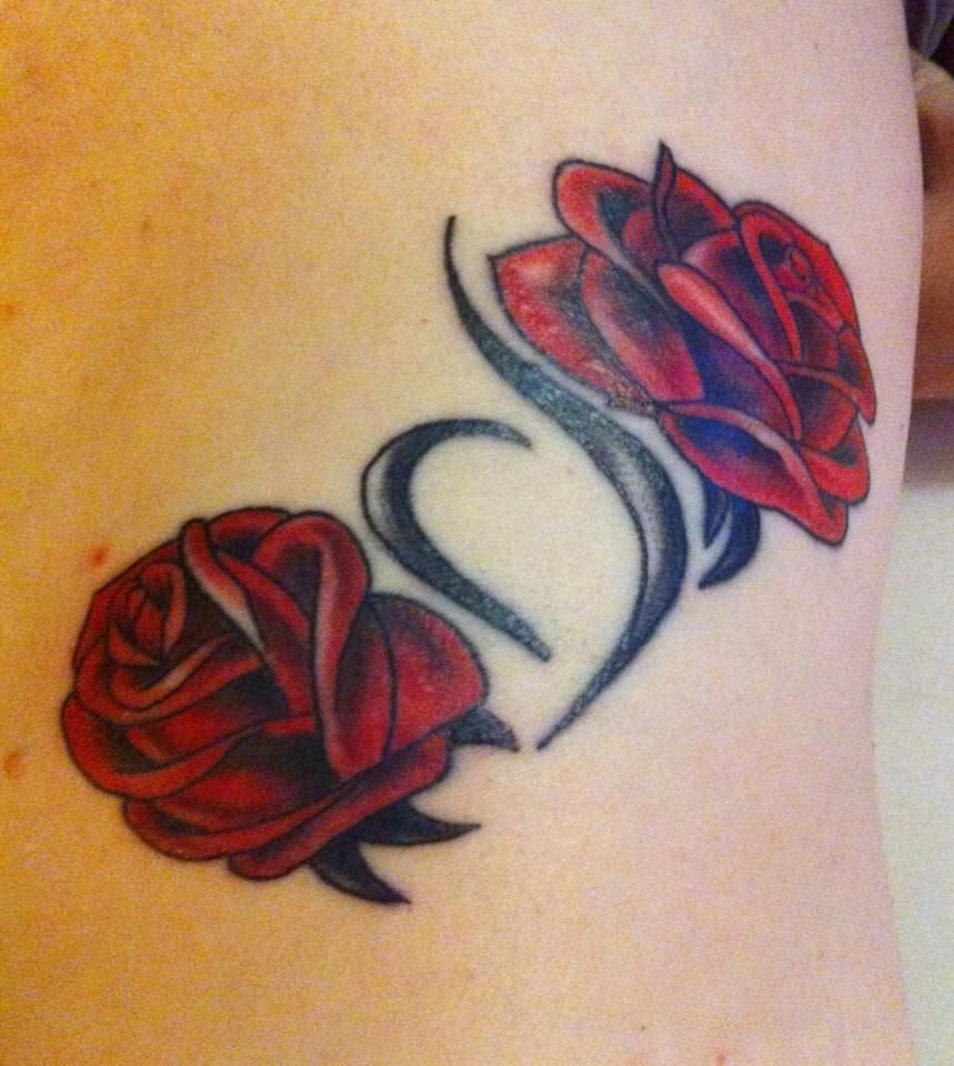 Eating Disorder Recovery Tattoos: NEDA Tattoo With Roses #neda #eating #disorder #awareness