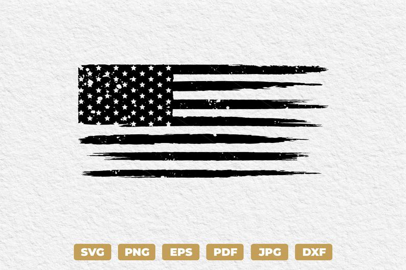 Distressed Grunge Usa American Flag Svg American Flag For Tshirt Design Instant Download American Flag Vector Flag For Cricut Silhouette In 2021 Flag Vector Svg Poster Stickers