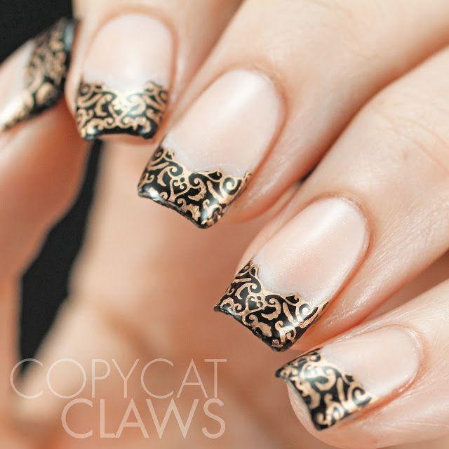 Uberchic beauty 6 02 french tips uber chic nail stamping - Nail art chic ...