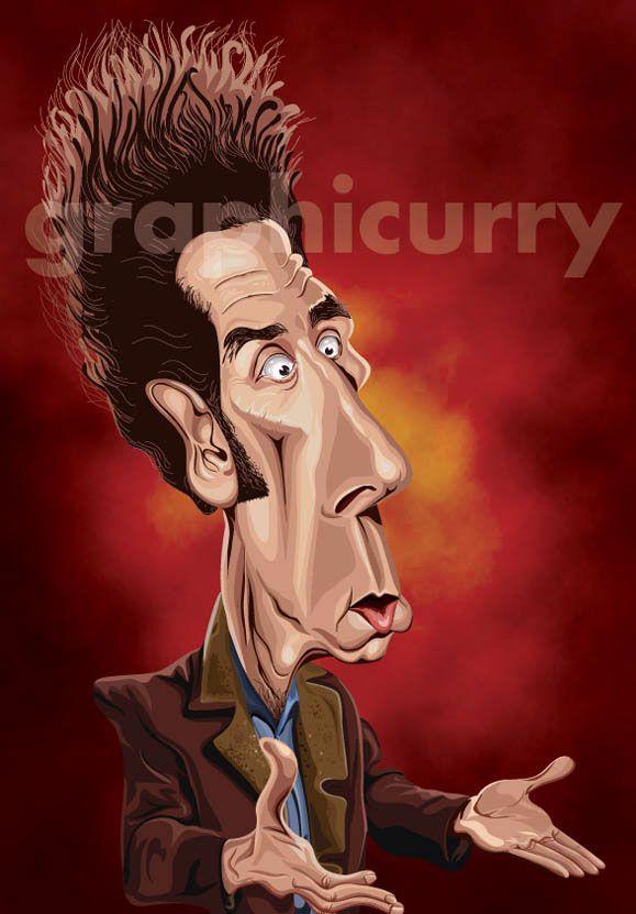 Kramer Seinfeld The T V Show Caricature Artist Caricature Sketch Caricature