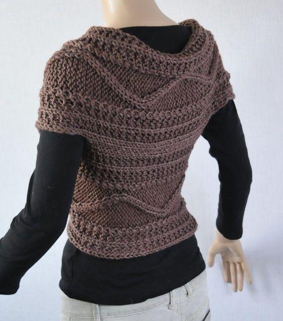 Teje a mano el suéter suéter cruzado capa y cuello en Moca | LANA ...