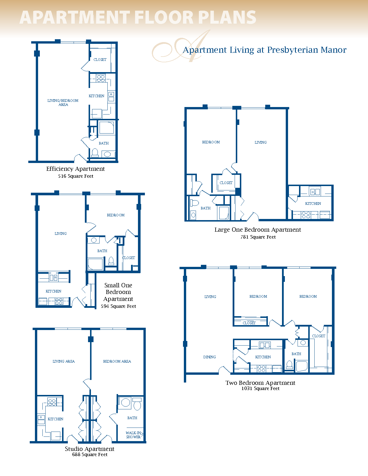 Small Efficiency Apartment Plans | Floor Plans trong 2019