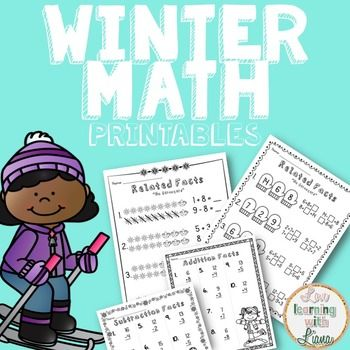 Who is it for?This free Winter math fact family resource is great ...
