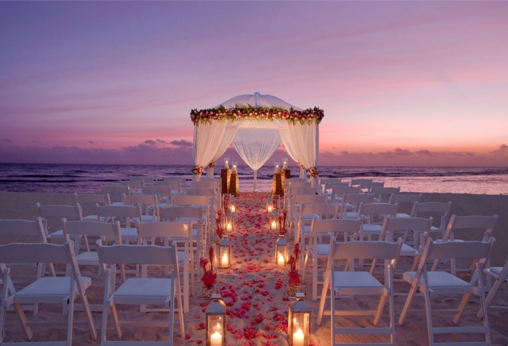 Candlelit Beach Ceremony This Is Exactly How I Want Mine