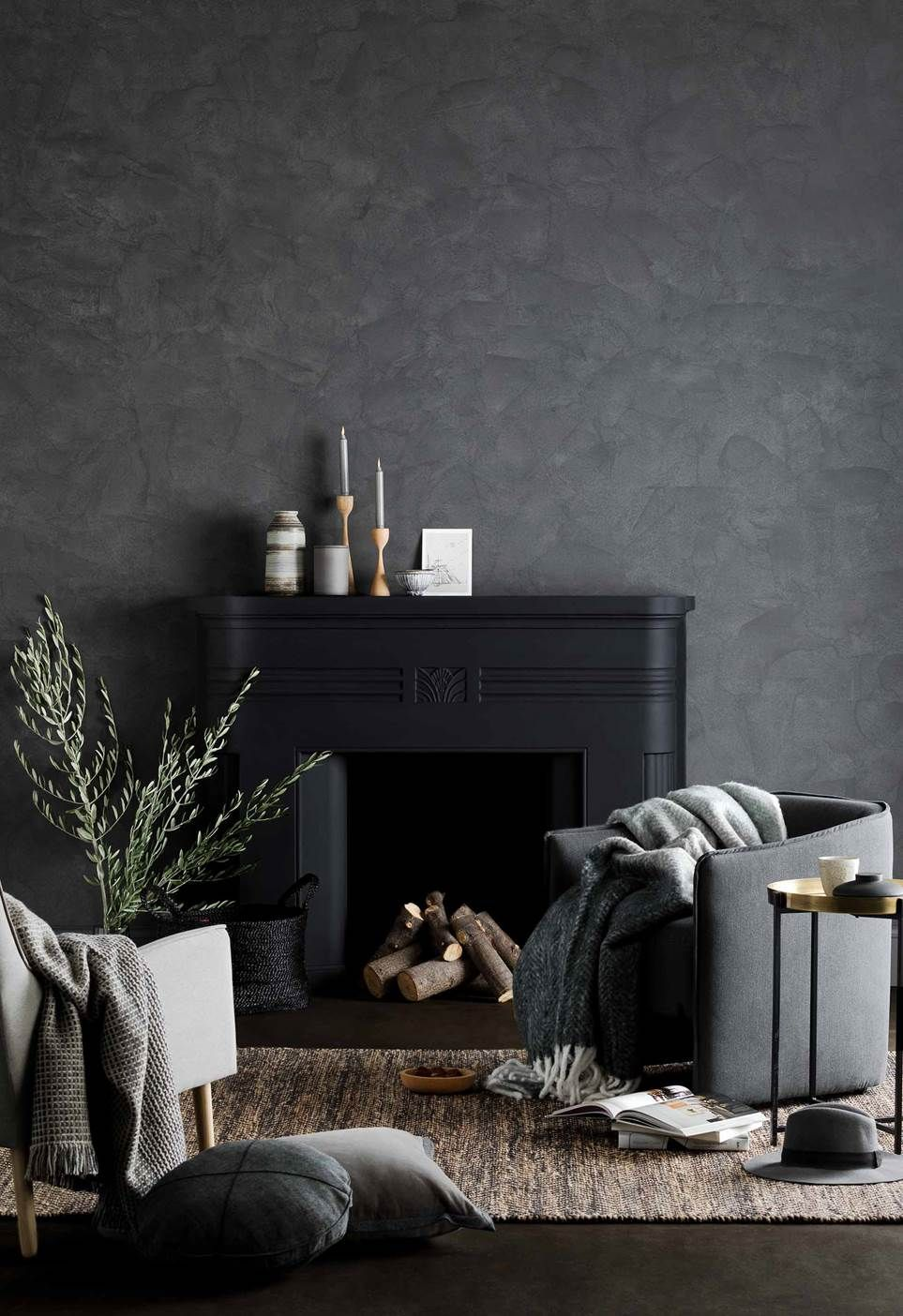 17 Dark Wall Ideas For Homes Walls And Interiors Feature