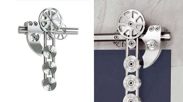 mwe spider modern barn door hardware is suitable for single or double biparting