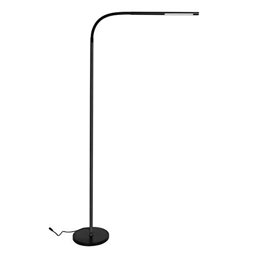 Byingo Led Reading And Crafting Floor Lamp Modern Simplicity Style 4 Color Modes 500 Lumens Stepless Dimming Ful Modern Floor Lamps Cool Floor Lamps Floor Lamp