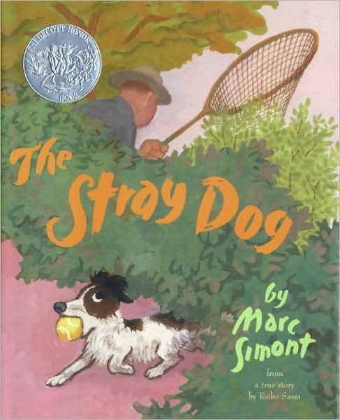 My kids love this book! It's the story of a picnicking family who is charmed by a stray dog.