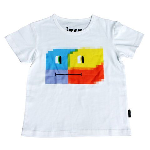 ITCH Pixel Robot Tee — Disco This Friday $10