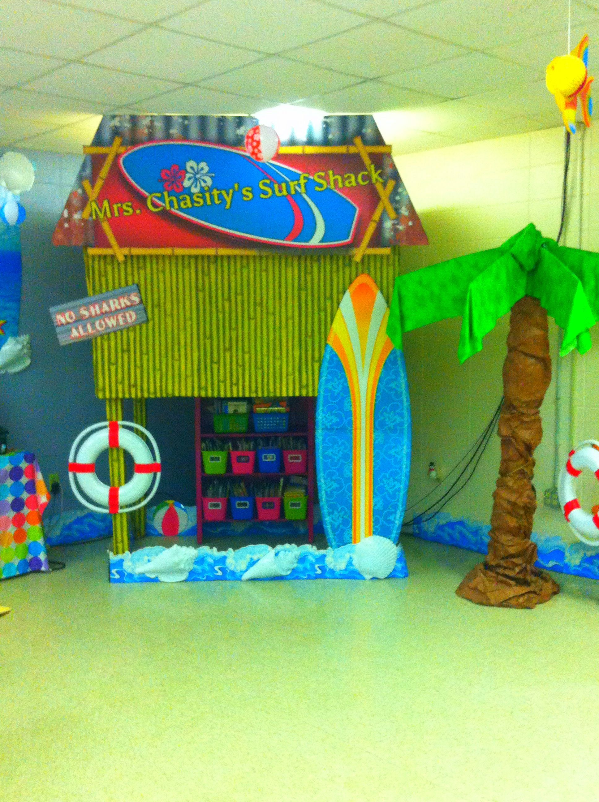 Surf Shack Reading Center Beach Classroom Decor
