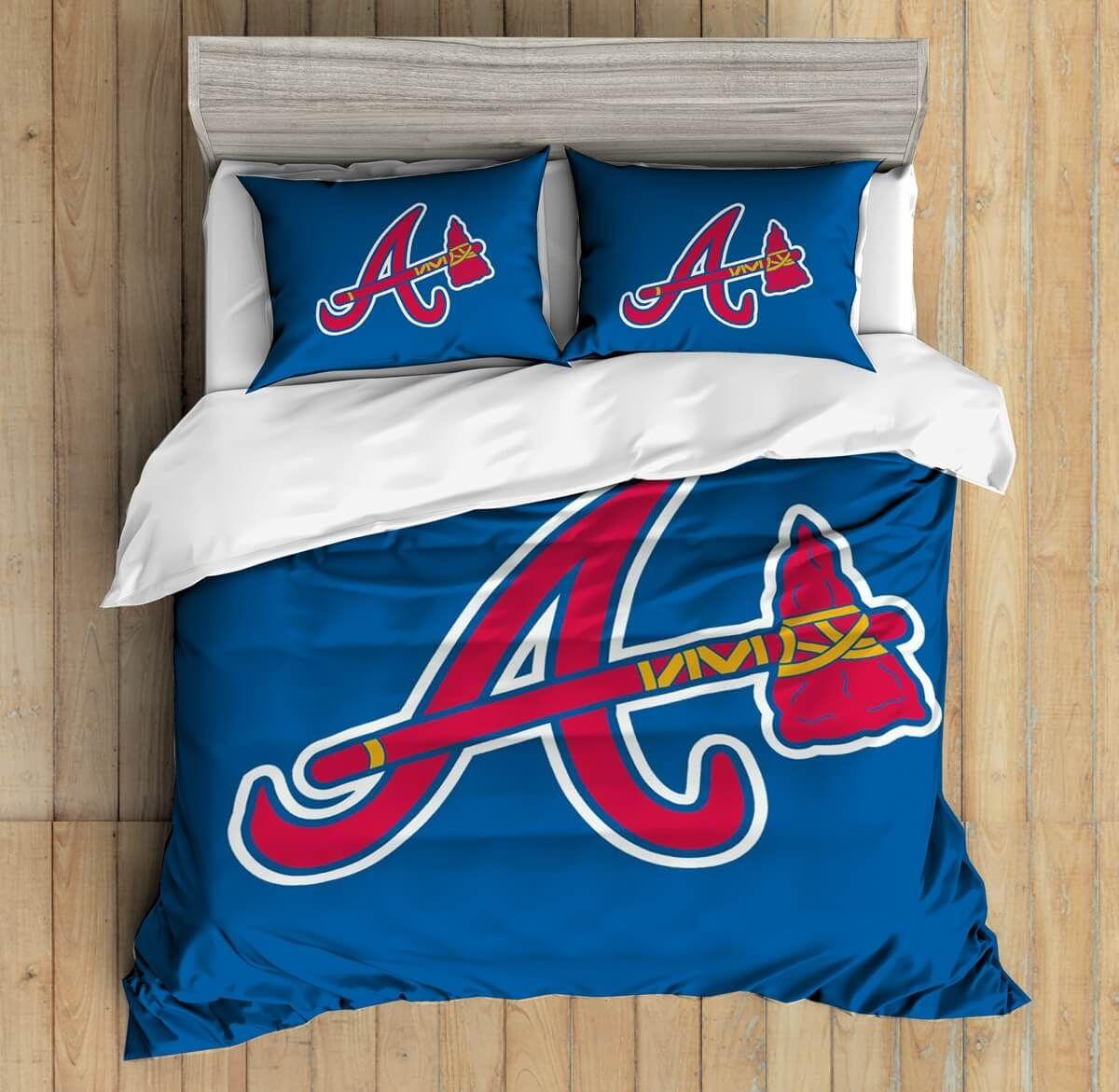 3d Custom Atlanta Braves Bedding Set Duvet Cover Set Bedroom Set Bedlinen Duvet Cover Sets Duvet Covers Custom Bed