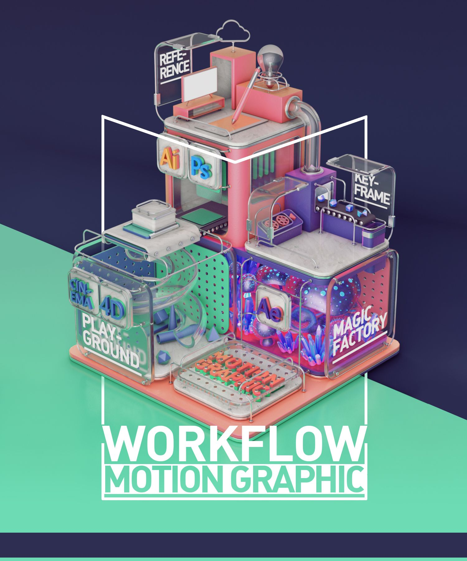 The Art of Motion Graphic Workflow on Behance Motion
