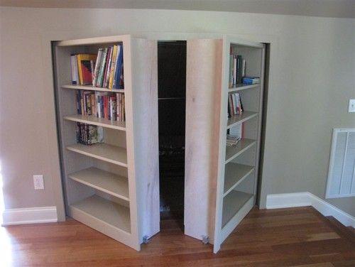 Invisidoor Hidden Door Bookcase Family Room Hidden Doors